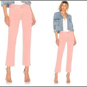 MOTHER Pink The Rascal Ankle Snippet Jeans Size 25